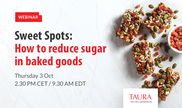 Banner Webinar Sweet Spots - How to reduce sugar in baked goods